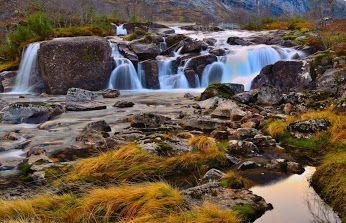 Waterfall in Riksheimdalen