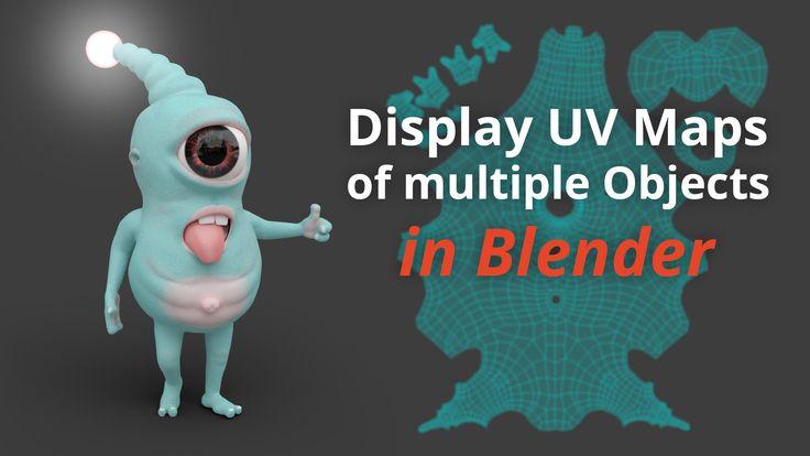Display UV Maps of multiple Objects (Blender Tutorial EN)