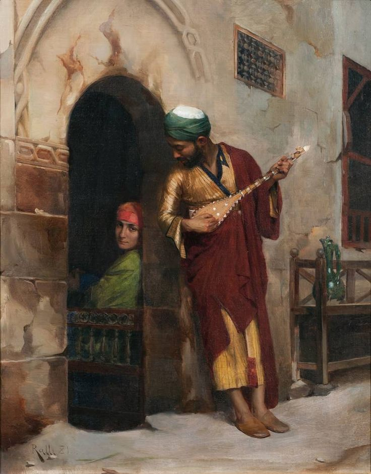 Théodore Jacques Ralli Courtship in Cairo, 1881