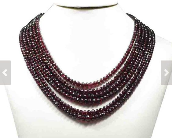 """Garnet Beads Strand, 16"""" String with more than 80 AAA Quality Garnet Beads, Customize your Order"""