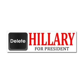 Delete hillary car magnet 10 x election 2016 bumper stickers magnets funny and political bumper stickers