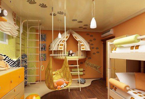 Фото дизайна детской комнаты в стиле сафари