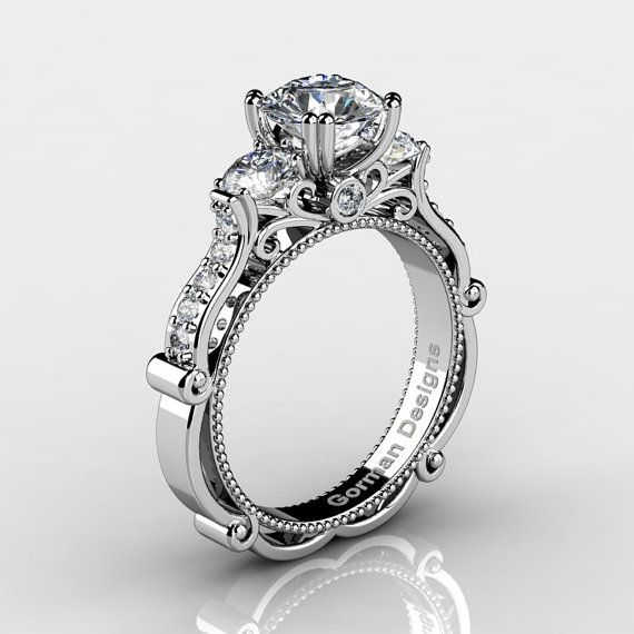 Classic Italian 14K White Gold 1.5 Ct White by GormanDesigns