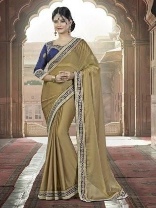 Online Indian sarees online at Fancy Stop. Here you find exclusive collection of all types of designer sarees like wedding sarees, embroidered sarees, bridal at ladyindia.com