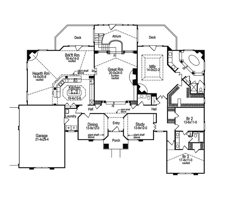 1000 images about home ideas floor plans on pinterest for Atrium ranch floor plans