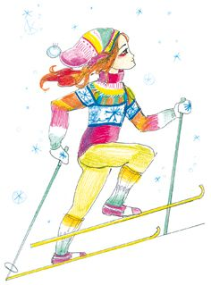 Более лучших идей на тему Лыжный спорт на Лыжи  Детские рисунки лыжный спорт