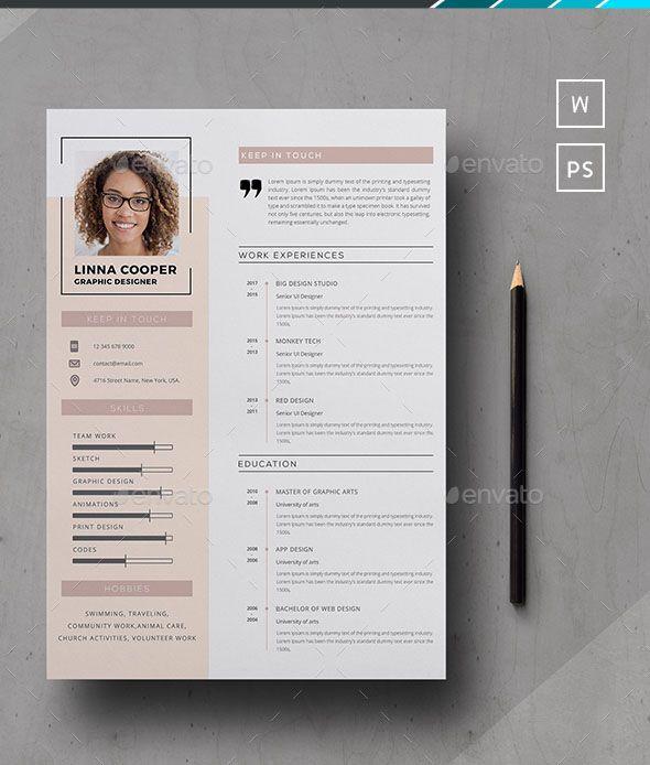 54 Premium Free Psd Cv Resumes To Find A Good Job Free Psd Templates Cv Design Template Free Resume Design Creative Graphic Design Resume
