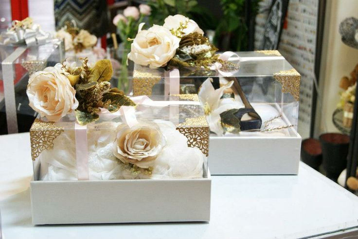 Ivory Suede Seserahan Boxes #wedding #gift #tradition