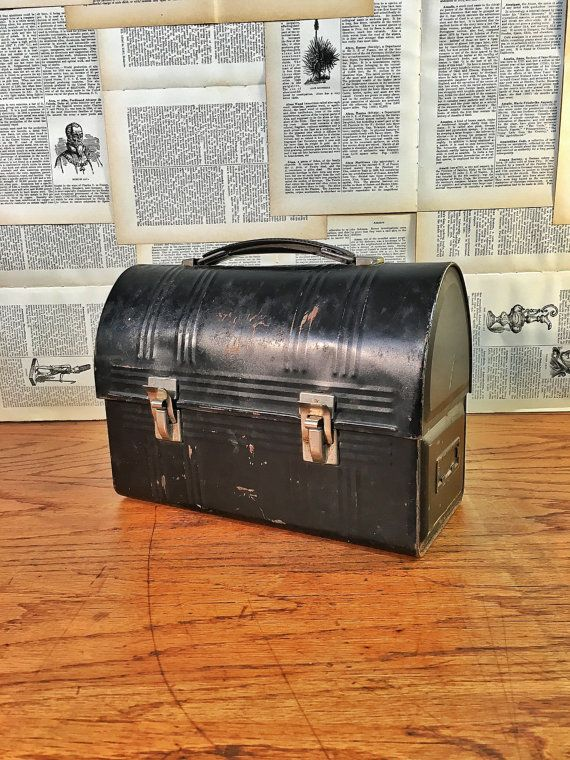 Metal Lunch Box Vintage Workman's Industrial by 815VintageGoods