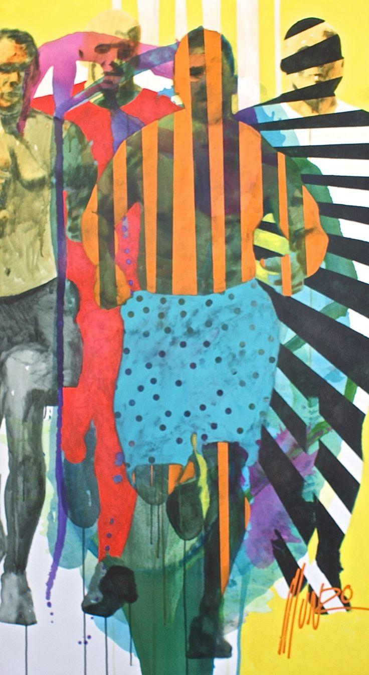 """stronger than men"" by South African Artist Munro. Dimensions: 198 x 110 x 5 cm #munro #ye"