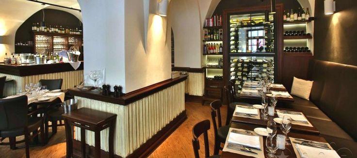 Interiér restaurace Kalina cuisine & vins