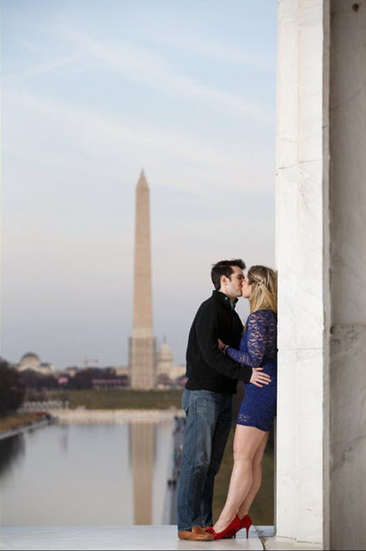 washington dc wedding blog ~ dc monuments engagement pictures | Capitol Romance ~ Offbeat DC Weddings & DIY Resources
