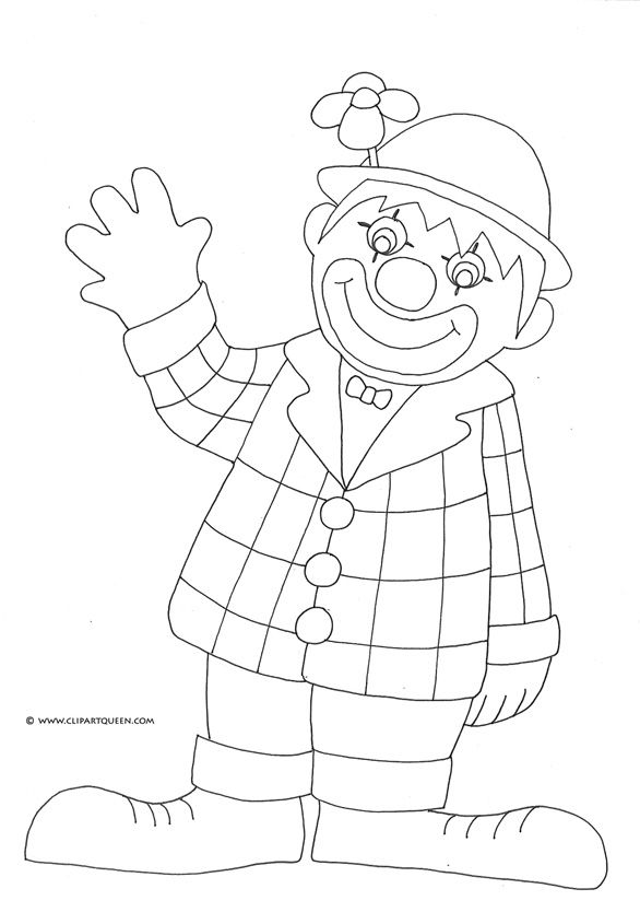 Clown Coloring Pages | Birthday clown coloring pages
