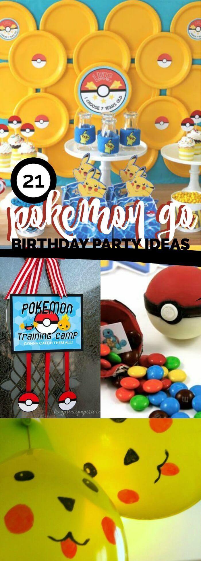 21 Top Pokemon Go Party Ideas!