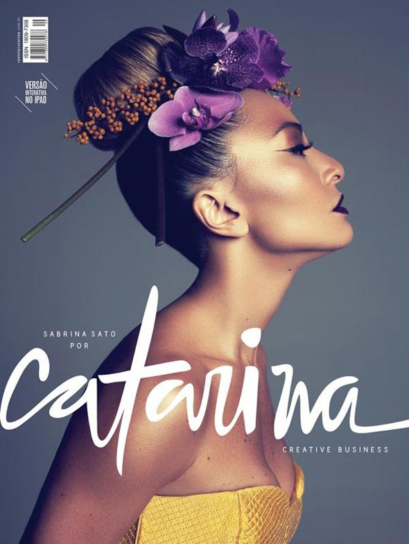 Sabrina sato. Revista Catarina