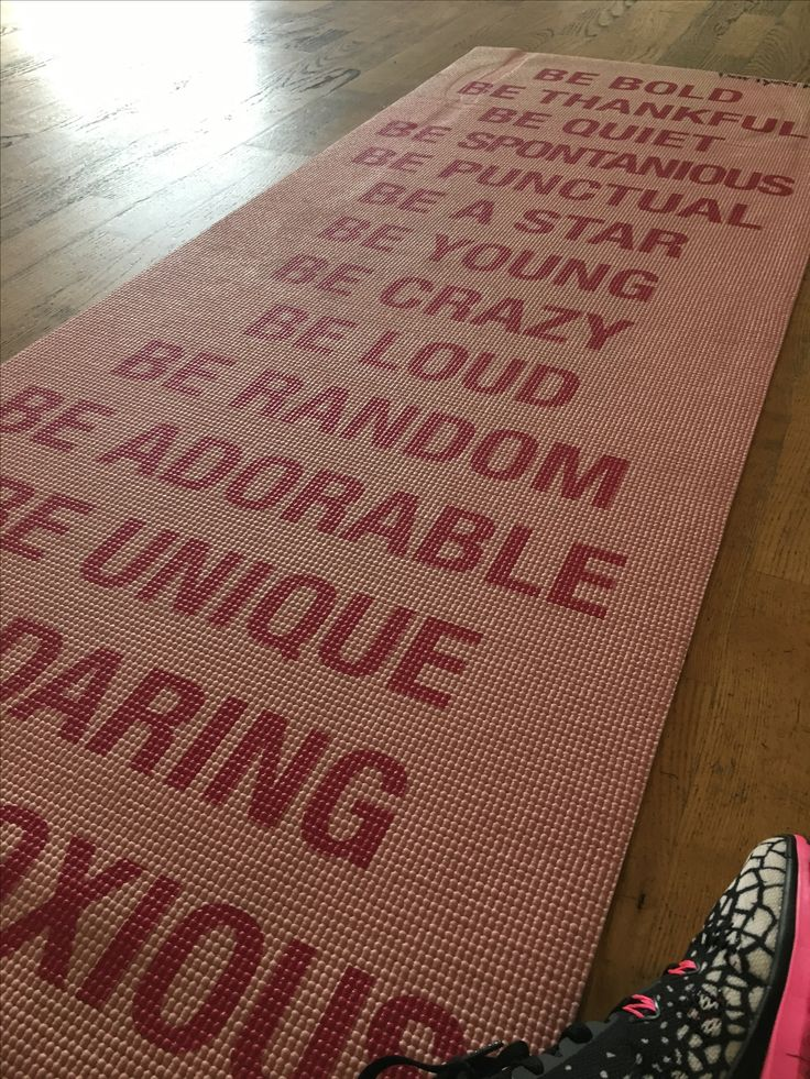 My awesome yoga mat!