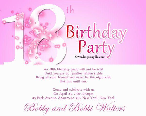 21st Birthday Party Invitation Wording Luxury 21st Birthday Party Inv Birthday Party Invitation Wording 21st Birthday Invitations Birthday Invitation Templates