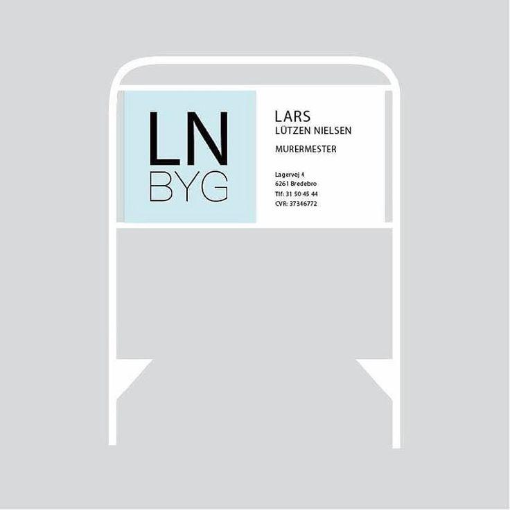 LN BYG - Sign #skiltning #sign #simplicity #enkelt #på #byggepladsen #building #company
