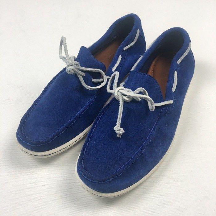 Boat shoes, Blue suede, Online thrift store