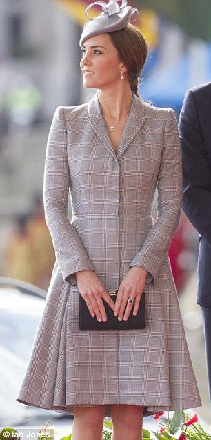 Making an appearance:This morning Catherine, Duchess of Cambridge, along with husband the Duke of Cambridge, greeted Dr Tan and his wife Mary at the Royal Garden Hotel in Kensington, London, on behalf of the Queen