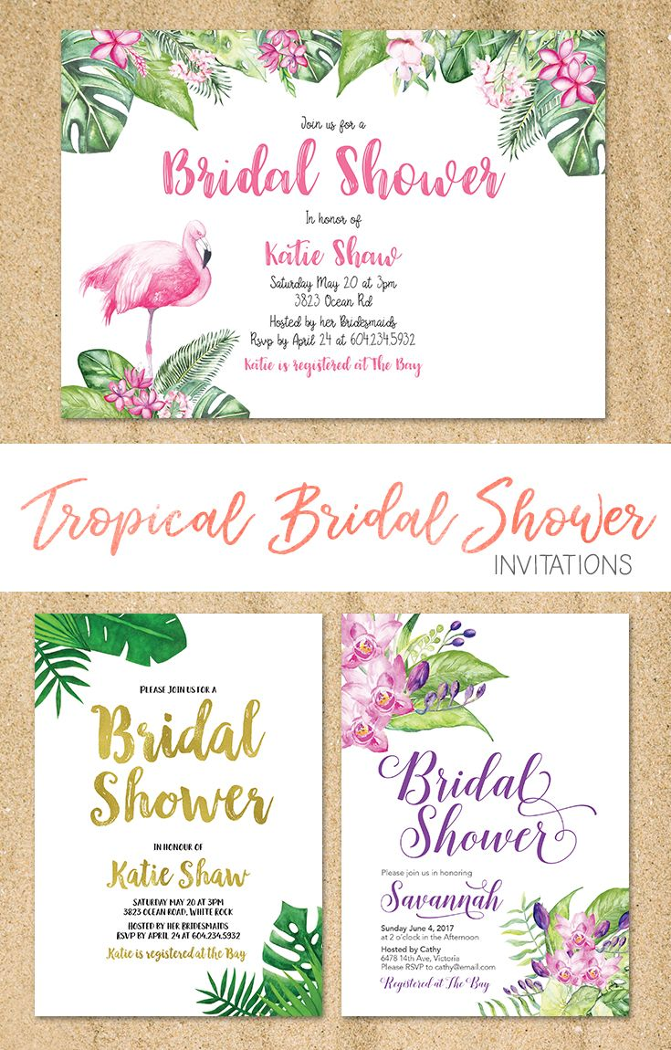 121a39d4ff9e Planning a Hawaiian or Tropical themed Bridal Shower  These printable  Invitations are easily customizable or request a custom Invitation Visit  LMN Design ...