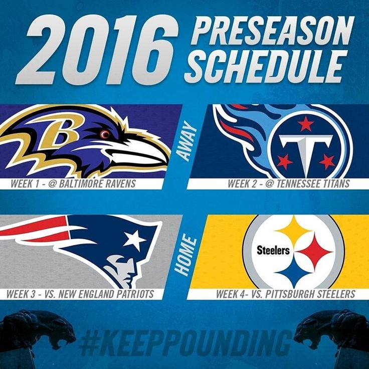 The ‪#‎Panthers‬ preseason schedule is set! Click the link in our bio for more info! #KeepPounding