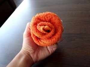 washcloth cupcake/flower TUTORIAL!!