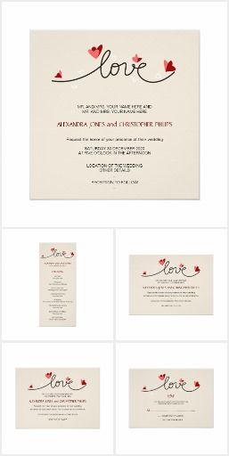 In Love Simple Elegant Text Wedding Suite