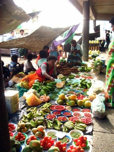 Suva Market- The Saturday market in Fiji...where the food was delicious and the view was spectacular! <3 Summer 2011