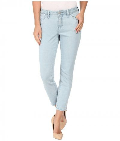 Jag Jeans Petite - Petite Penelope Mid-Rise Slim Ankle Jeans in Supra Colored Denim (Mineral Pool) Women's Jeans