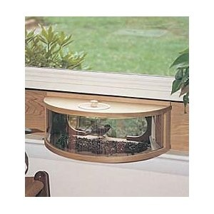 Window Bird Feeder One Way Mirror - WoodWorking Projects