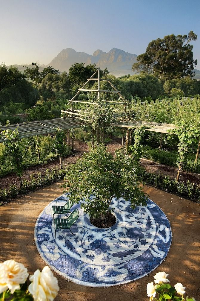 Babylonstoren garden - Cape Winelands of South Africa in the Drakenstein Valley between Franschhoek and Paarl.