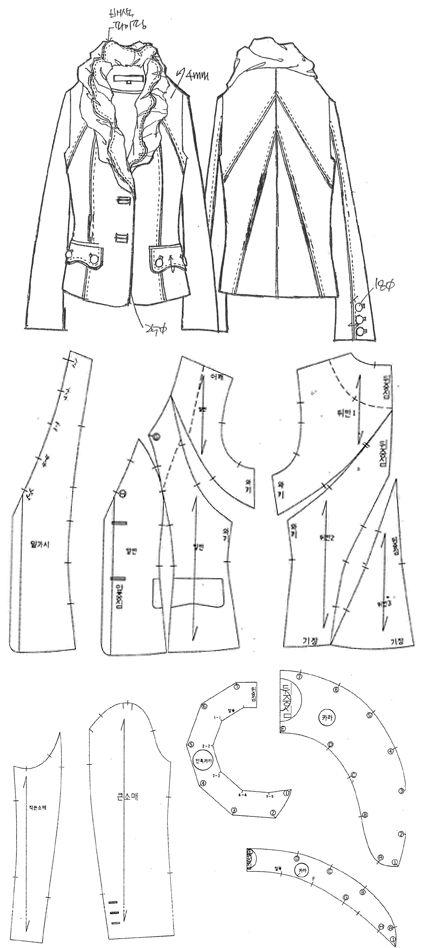 숄 칼라 포인트의 재킷