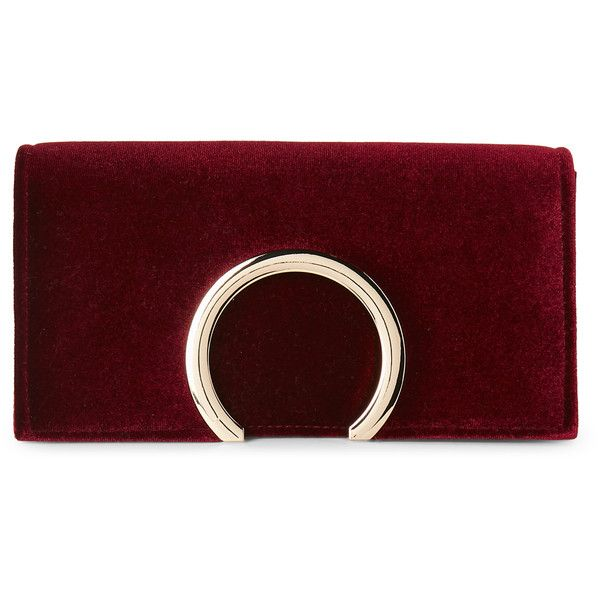 Jessica Mcclintock Wine Abby Velvet Convertible Clutch ($25) ❤ liked on Polyvore featuring bags, handbags, clutches, red, wine handbag, jessica mcclintock handbags, velvet purse, jessica mcclintock and red purse