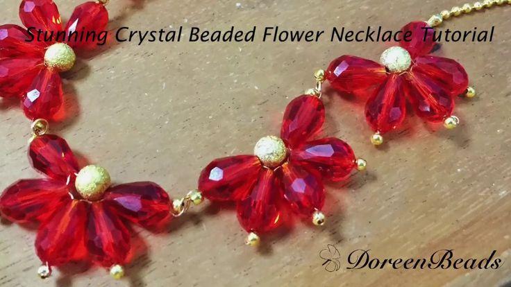 Doreenbeads Jewelry Making Tutorial - How to DIY Stunning Crystal Beaded...