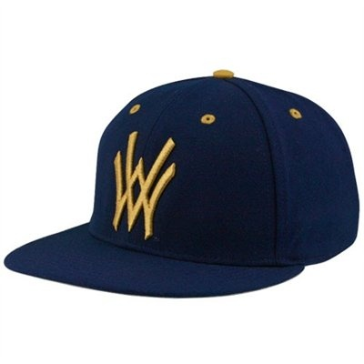 f14f1b218a3db Nike West Virginia Mountaineers Navy Blue Baseball Authentic 643 Fitted Hat