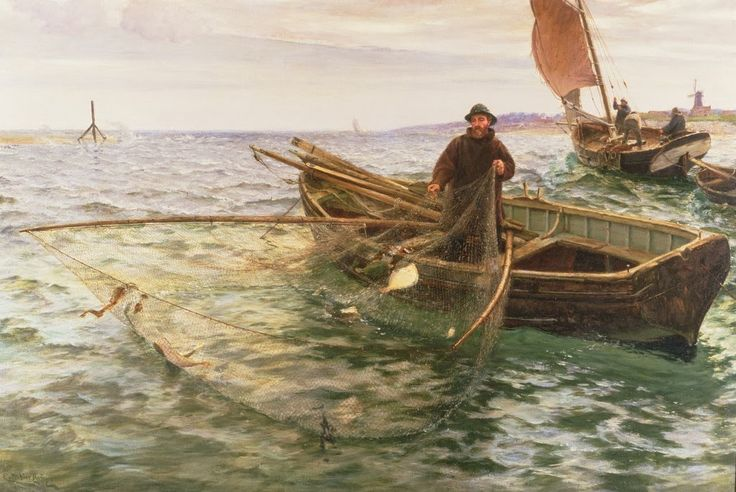 Victorian British Painting: Charles Napier Hemy, The Fisherman