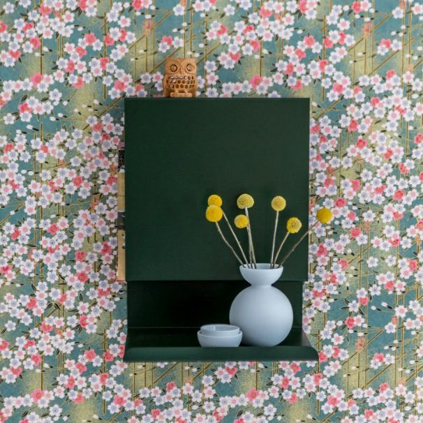 Colours in the kidsroom - japanese wallpaper