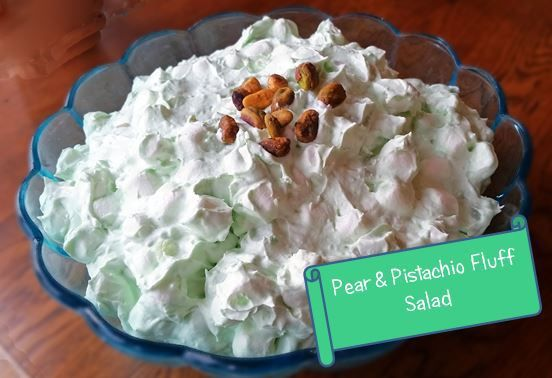 Pear and Pistachio Fluff Salad
