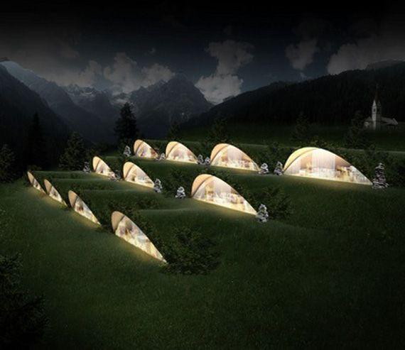an underground eco-friendly Klima Hotel in Bozen, Italy