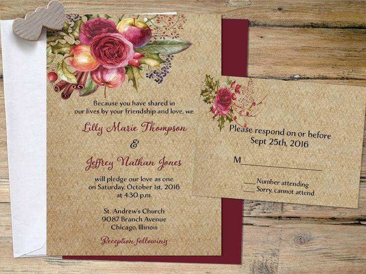 197 best Rustic Wedding Invitations Decor images – Diy Country Wedding Invitations