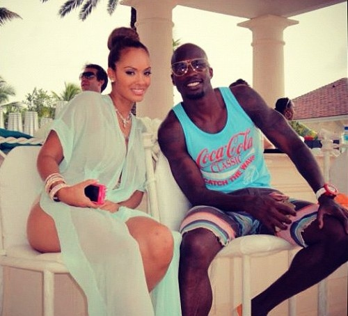 Evelyn Lozada Green Beach Cover Up at Post-Wedding Pool Party