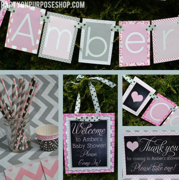 Baby Shower Party Decorations Package by PartyOnPurposeShop