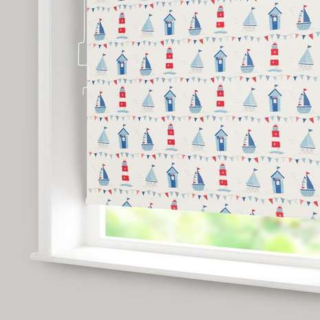Available to buy online today exclusively at Dunelm, our cordless roller blind will add a fun, nautical style to your window, ideal for the bathroom or a little boy's room.