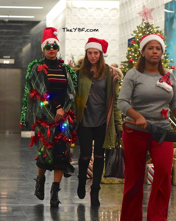 Beyonce Gets Decked Out In Ugly Christmas Sweater For Parkwood's ...