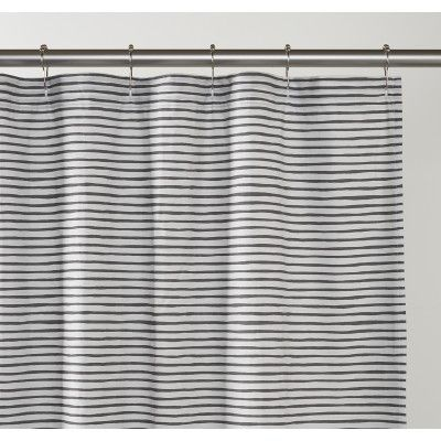 Painterly Stripe Shower Curtain