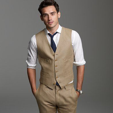 Love The Khaki Vest Look Guy Ware Groom Attire Beach