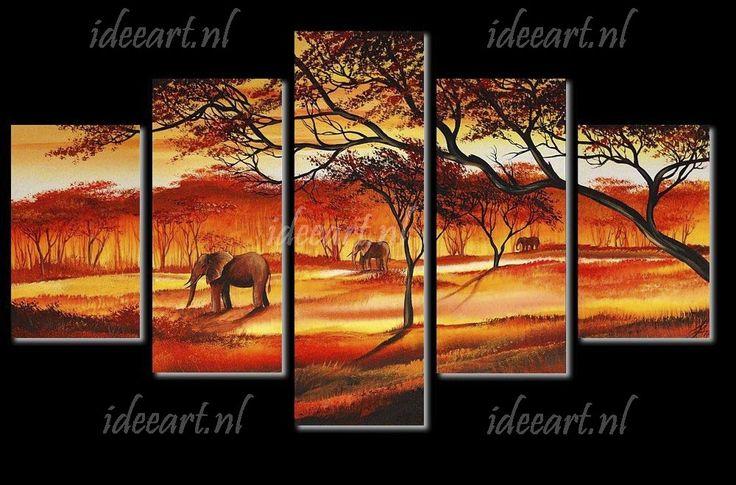 Schilderij Afrika Landschap | Schilderijen afrikaanse landschappen