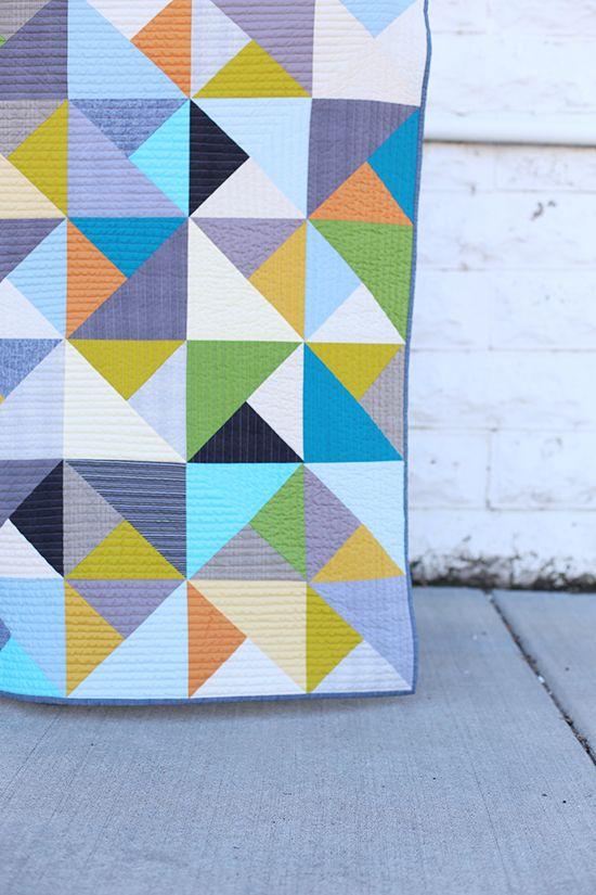 Noodlehead tute on making quilt w Jennifer Sampou fabrics and kona