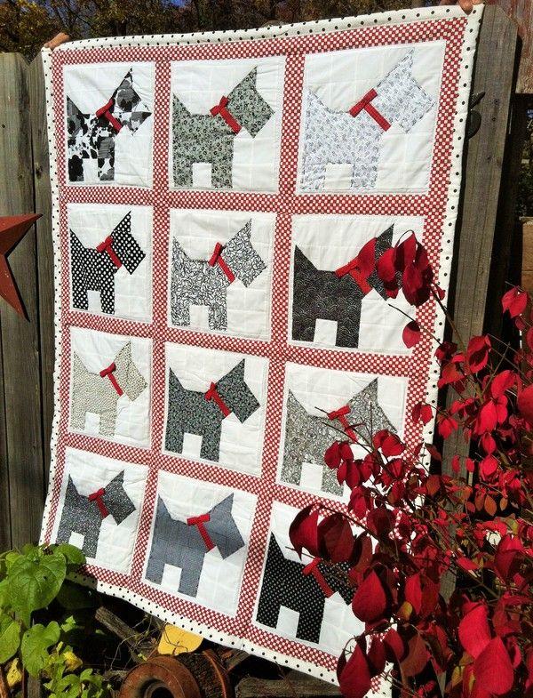 "November 12 - Featured Quilts on 24 Blocks - 24 Blocks Marci Carter: ""Scottie Dog Quilt"""